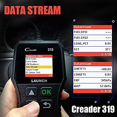LAUNCH OBD2 Scanner CR319 Code Reader Automotive Engine Light Check Scan, Car Diagnostic Tool with Full OBD II Functions: Automotive