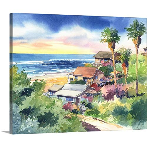 Crystal Cove Canvas Wall Art Print, 30