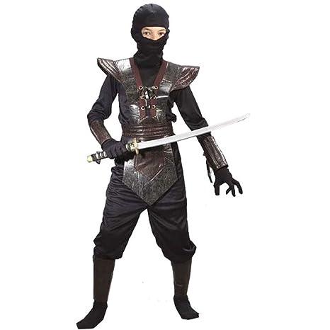 Amazon.com: BOS Leather Ninja Fighter Costume - Medium: Toys ...