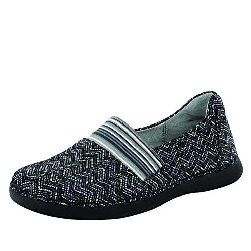 Alegria Women's Glee Ric Rack Flat Shoes (GLE-454) Size: Euro 37 \ US 7-7.5, Width: Medium