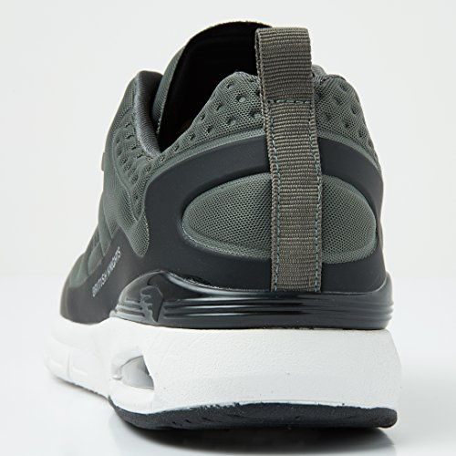 Sneakers Demon British Uomini nero Knights Scuro Grigio Bassa 1q4UZ