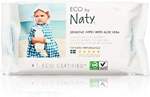 Naty Eco-Sensitive Baby Wipes with Aloe - Resealable Top - 56 ct