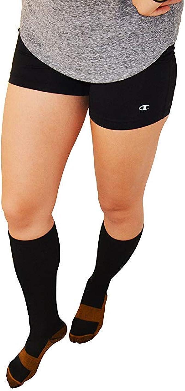 Copper Fit Energy Black Compression Sock L//XL Men 10-12 Women 11-13 Unisex NEW