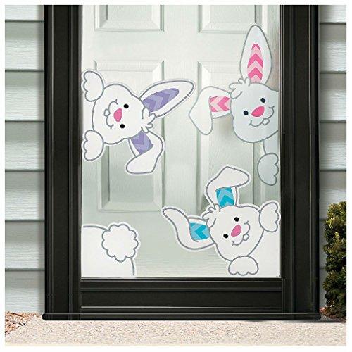 Easter Spring Peeking Bunnies Window Clings Decor (Peeking Bunny)