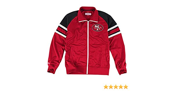 Mitchell & Ness San Francisco 49ers NFL Deadline Full Zip Premium Track Jacket