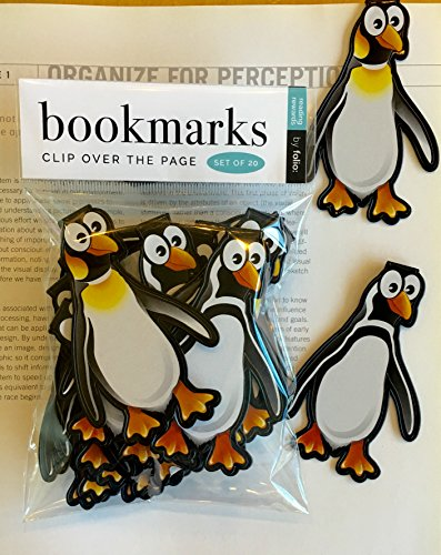 (Penguin Bookmarks - (Set of 20 Book Markers) Bulk Animal Bookmarks for Students, Kids, Teens, Girls & Boys. Ideal for Reading incentives, Birthday Favors, Reading Awards and Classroom)