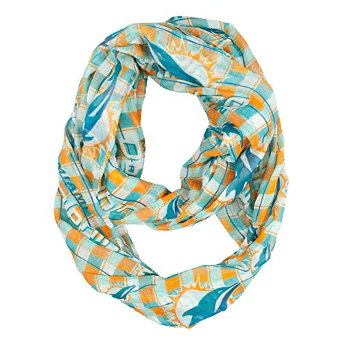 NFL Miami Dolphins Sheer Infinity Plaid - Dolphin Where Is The Mall