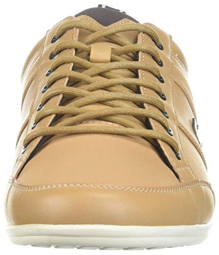 Lacoste Heren Chaymon Sneakers Ltbrw / Dkbrw Synthetisch