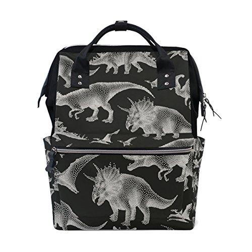School Backpack Dinosaurs College Daypack Laptop Bag by WIHVE