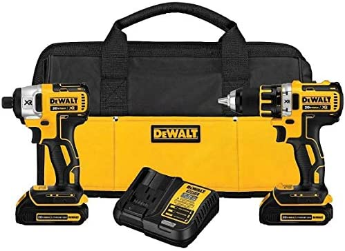 DeWalt DCK281C2 20V MAX Li-Ion Brushless Compact Drill and Impact Driver Combo