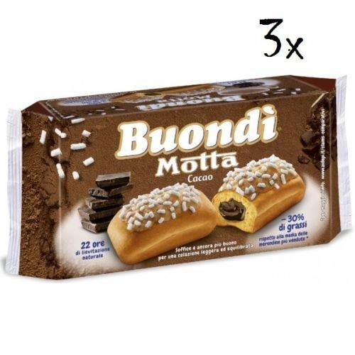 18 X Motta buondì buondi Cacao 3 x 6 cerrojo de tarta con Cacao Galletas 774 gr Brioches: Amazon.es: Alimentación y bebidas