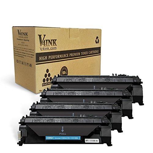 V4INK 4PK Compatible Toner Cartridge Replacement for HP 05A CE505A Toner Ink for HP Laserjet P2035 P2035n P2050 P2055 P2055d P2055dn P2055x, HP Pro 400 m401n m401dne m401dw M425dn M425dw Printer (Hp Laserjet P2035 Toner)
