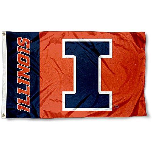 Illinois Fighting Illini Metal (Illinois Fighting Illini Large 3x5 College Flag)