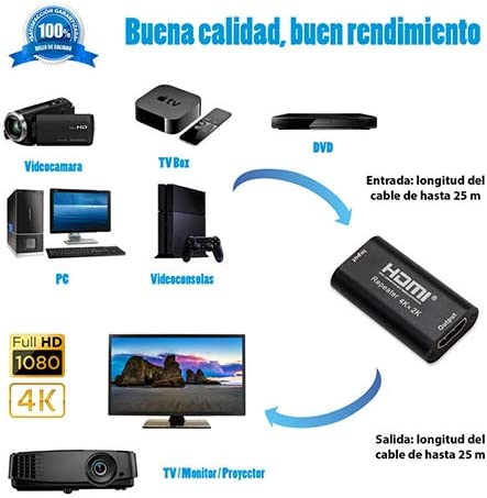 Nano Cable 10.15.1201 - Repetidor HDMI V1.4B, 3.4Gbps hasta 4K x ...