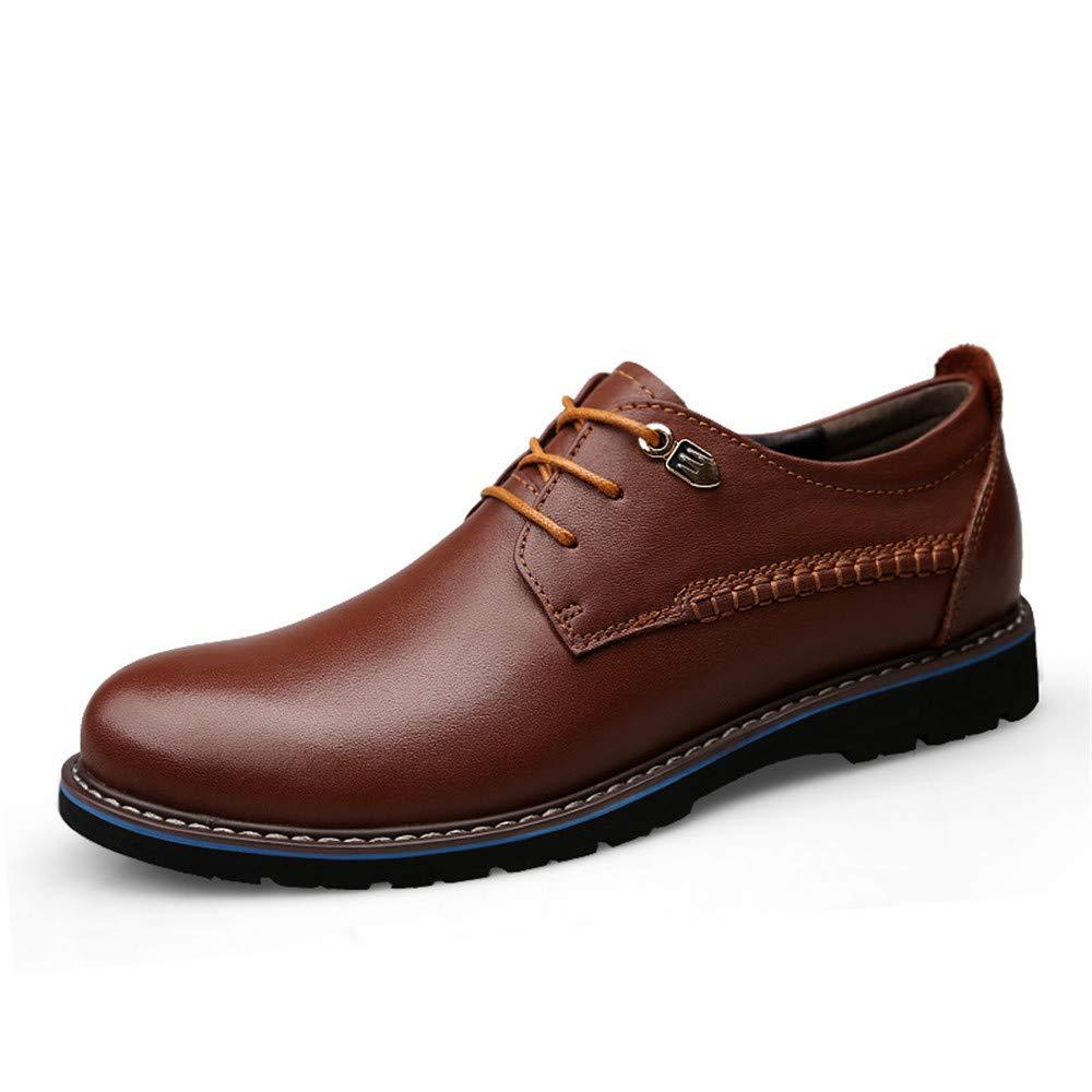 Marron Shuo lan hu wai Les Hommes d'affaires Oxford Casual Cravate Classique Simple tête Ronde Chaussures Formelles,Chaussures de Cricket (Couleur   Noir, Taille   38 EU) 46 EU