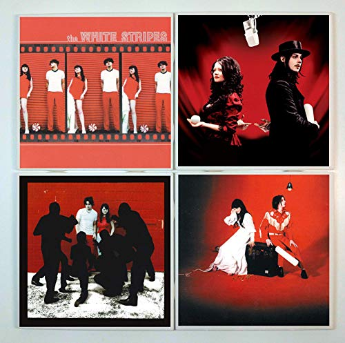 White Stripes Coasters - set of 4 tile coasters - band coasters, album covers