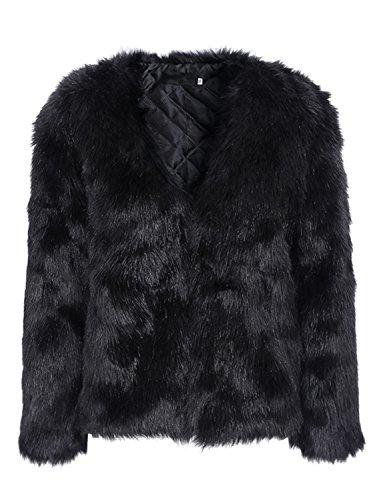 Faux Rabbit Fur Coat - 2