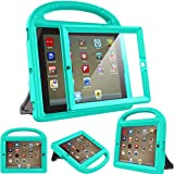 Surom Kids Case with Built-in Screen Protector for iPad 4, iPad 3 & iPad 2, Shockproof Convertible Handle Stand Case Cover for iPad 2nd 3rd 4th Generation - Turquoise