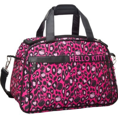 Hello Kitty Pink Leopard Weekender Carry On,Multi,One Size