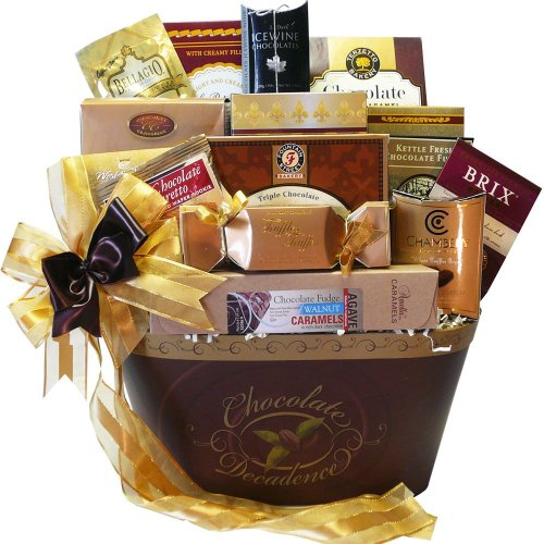 Chocolate Decadence Gourmet Gift Basket (Thanksgiving Pastry Gift Baskets Ideas)