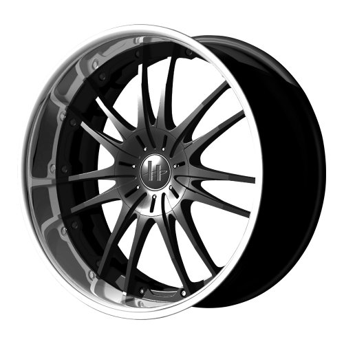 Helo HE845 Gloss Black Wheel With Machined Face (20×8.5″/5×108, 114.3mm, +42mm offset)