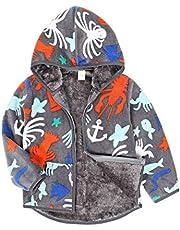 AmzBarley Toddler Baby Boys Girls Polar Jacket Hooded Fleece Sweatshirt Autumn Winter Long Sleeve Thick Warm Outerwear
