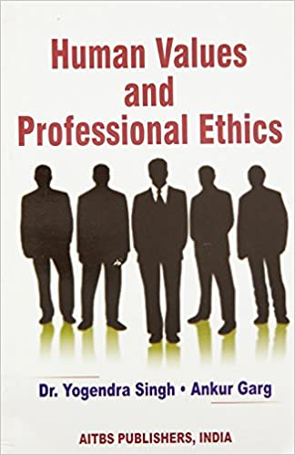 Values professional ethics and book human