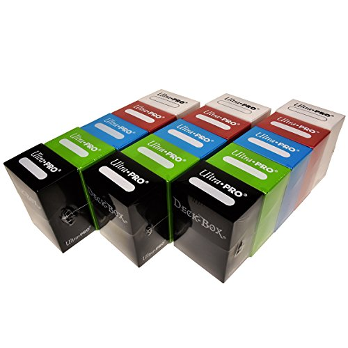Ultra Pro Magic/Pokemon/YuGiOh Cards Deck Boxes, Set of 15 (Red, Blue, Green, Black and White)) from Ultra Pro