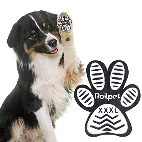 Roilpet Paw Pads for Dogs Traction – Provide Your Dog with Anti-Slip Grips from Slipping on Hardwood Floors, Especially for Senior Breeds for Indoors Wear (XXXL)
