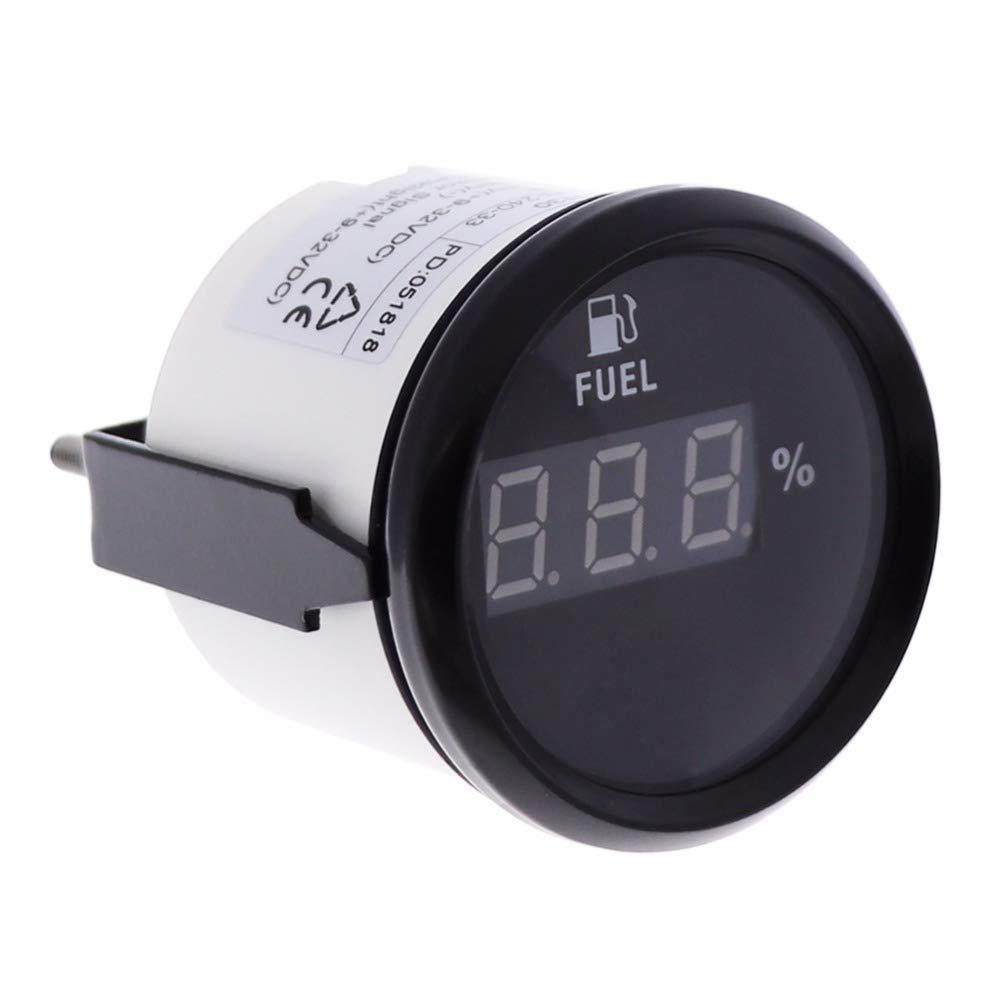 Jauge de niveau de carburant numé rique Mè tre 0– 190ohm 52 mm avec ré troé clairage 9– 32 V ELING