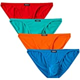 JINSHI Mens Bikini Briefs Low Rise Tagless Bamboo Underwear XXXL(39''-42'')/US size XL