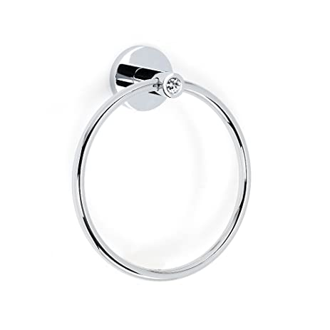 modern towel ring. Alno C8340-PC Contemporary I Crystal Modern Towel Rings, 6\u0026quot;, Polished Chrome Ring