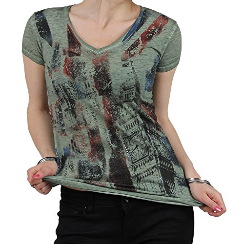 Redbridge - Camiseta - para mujer caqui