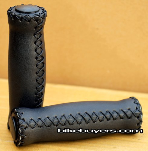 Velo Vinyl Leather Grips - Black, for 7/8'' handle bars of beach cruiser bikes by VELO (Image #2)