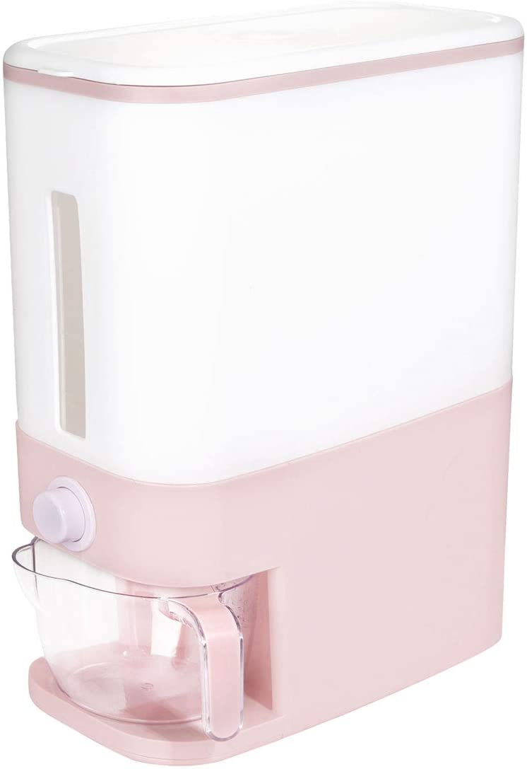 BBG 22.5 Lbs Rice Dispenser, Plastic Food Stroge Container, Large Food Storage Container Storage with Lid, Moisture Proof Household Cereal Dispenser Bucket, Sealed Grain Container Storage for Kitchen