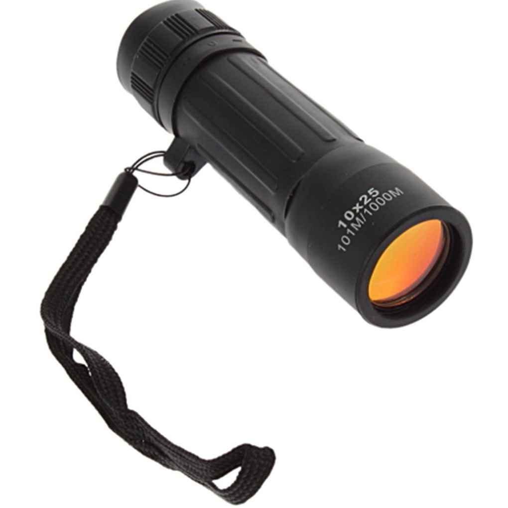 Mengonee Ligero de Bolsillo de Enfoque Zoom Telescopio Monocular 10 * 25 para Senderismo Caza Acampar Al Aire Libre Deporte de Viaje Práctico Alcance