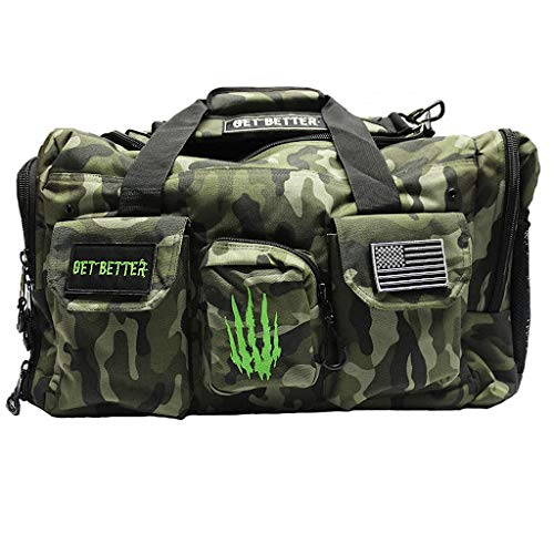 Bear KompleX Gym Bag, Tactical Rucksack for Hunting, Fitness, and CrossFit, 1000 Denier Nylon Duffel for Organizing Gear, Great for Travel and Storage for Workout Gear, Multi-use Bag, Men and Women (Best Ass In Crossfit)