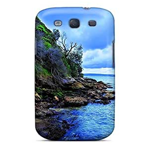 Anti-scratch And Shatterproof Blue Sea Sky Phone Case For Galaxy S3/ High Quality Tpu Case