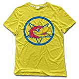 Texhood Man's University Of Kansas KU Tshirts Yellow O-Neck
