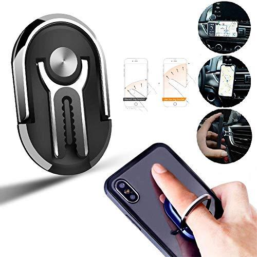 Multifuncional Soporte Movil Telefono,Universal Telefono con Soporte de rotacion del Coche, Telefono 360° Rotacion Agarre de Anillo de Metal para iPhone Telefonos Noviles GPS