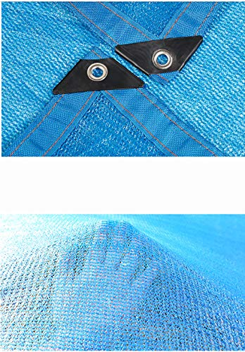 Hwpb Blue 6-pin Edging Shade net Plant Fleshy Shade net roof top Sunscreen Garden Insulation net by Hwpb (Image #1)