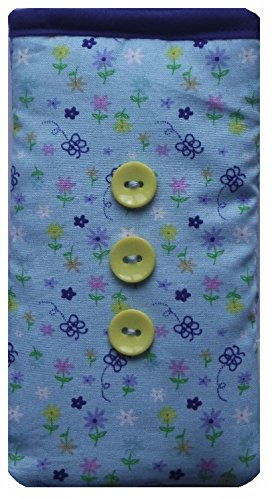 Cute Blue Vintage Flowers Print Apple iPhone 5 or 5c or 5s sock / Case / Cover / Pouch