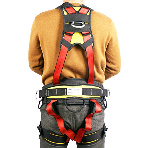 Climbing Harness Outdoor Full Body Safety Harness, for Mountaineering Outward Band Expanding Training Caving Rock Climbing Rappelling Equip