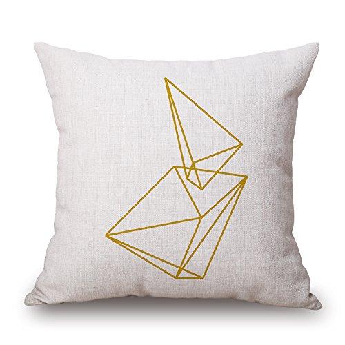 Beautifulseason The Geometric Throw Pillow Covers Of ,16 X 16 Inches / 40 By 40 Cm Decoration,gift For Car,lounge,dinning Room,kids,bedroom,birthday (twin Sides)