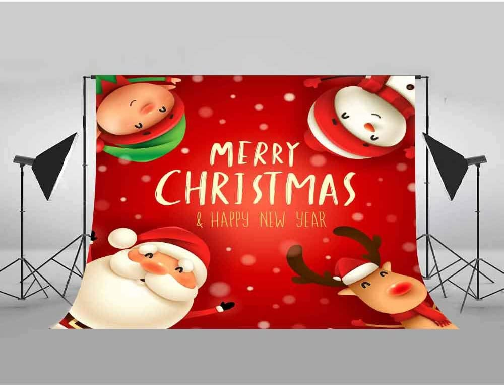 Christmas Backdrop Santa Claus Snowman Photography Background MEETSIOY 10X7ft Themed Party Photo Booth YouTube Backdrop GYMT744