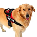 Paw Five CORE-1 Reflective Dog Harness with Built In Waste Bag Dispenser for Medium and Large Dogs (Medium - Lava Red)