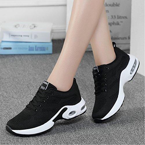 para Deportivo Zapatos Negro Mujer Zapatillas Gym azq07