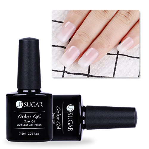 CoulorButtons 1 Bottle 5ml UR SUGAR White Opal Jelly Gel Semi-transparent Soak Off Nail Art UV Gel Polish