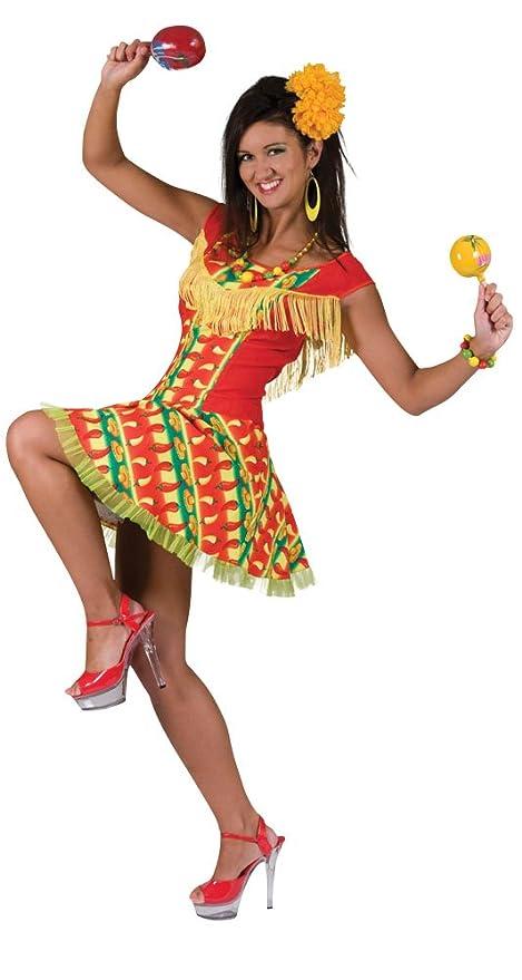Bristol Novelty AC278 Traje Vestido de mujer Mejicana ...