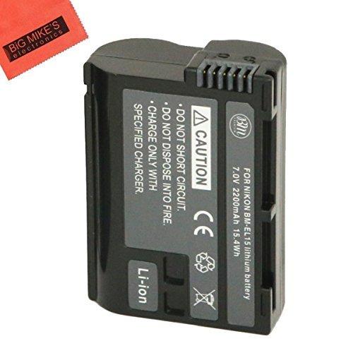 BM Premium EN-EL15 Battery for Nikon 1 V1, D500, D600, D610, D750, D800, D800E, D810, D810A, D7000, D7100, D7200 Digital SLR Camera